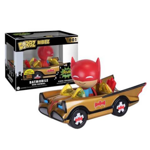 Batman Gold Batmobile & Batman Dorbz Ride & Vinyl Figure SDCC 2016 Exclusive