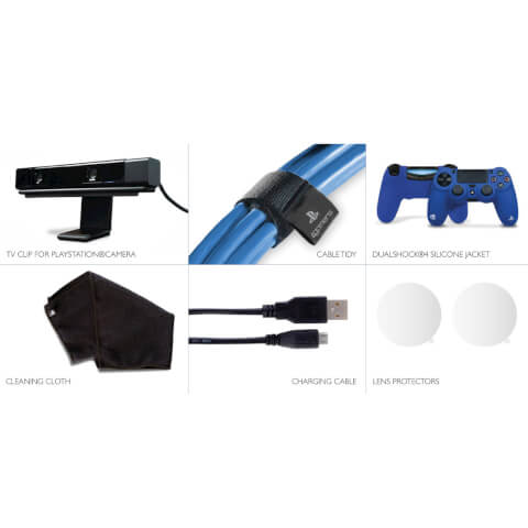 Playstation VR Starter Kit - USB Cable, Lens Protectors, DualShock Controller Silicone Jacket, Cleaning Cloth