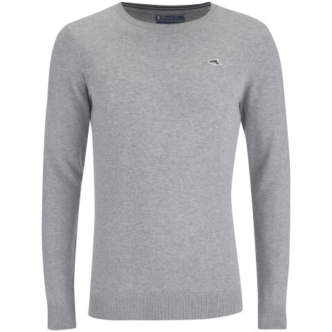 Le Shark Men's Union Cotton Crew Neck Jumper - Light Grey Marl