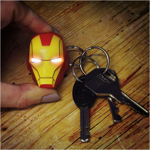 Porte-Clefs Lampe Iron Man Marvel