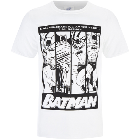 DC Comics Batman Mens I am Batman T-Shirt - Zwart