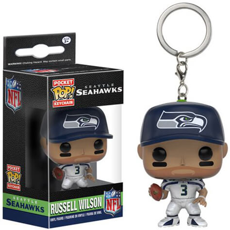 NFL Russell Wilson Pocket Pop! Vinyl Key Chain