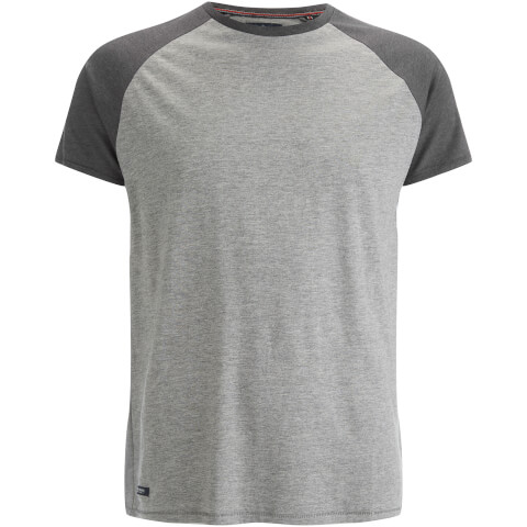 T-Shirt Homme Threadbare Abbot Raglan -Gris Chiné