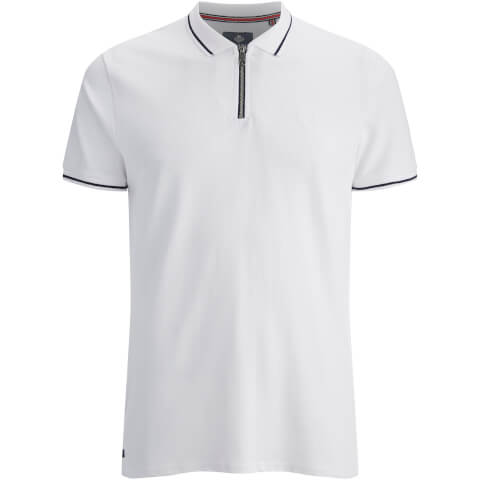 Polo Homme Homme Threadbare Redcar - Blanc