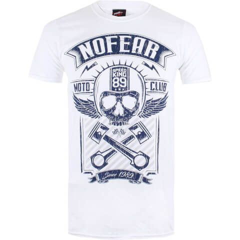 No Fear Men's Skull T-Shirt - White