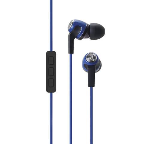 Audio-Technica Sonic Fuel Earphones with Mic - Blue