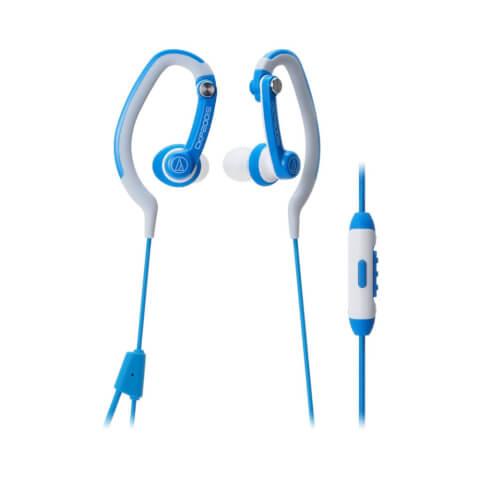 Audio-Technica Sports Hook Earphones with Mic - Blue