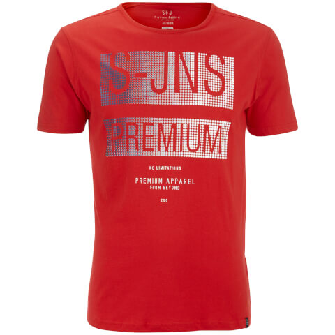 T-Shirt Homme Trapezoid Col Rond Smith & Jones -Rouge