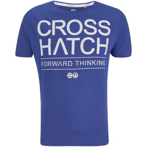 T-Shirt Homme Crosshatch Roshaun - Bleu