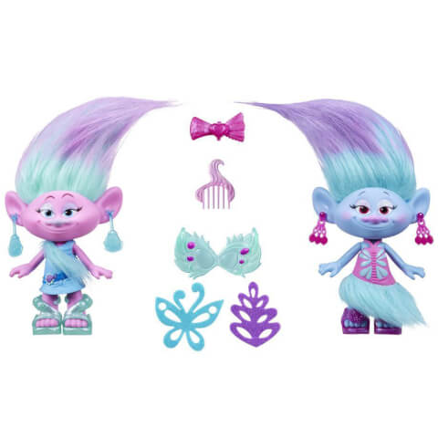 Trolls Satin and Chennille's Style Twins Dolls