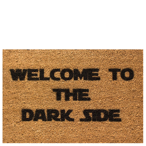 Welcome to the Dark Side Doormat Traditional Gifts | Zavvi.com