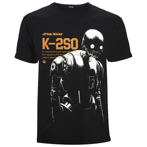 Star Wars: Rogue One Mens K-2SO T-Shirt - Zwart
