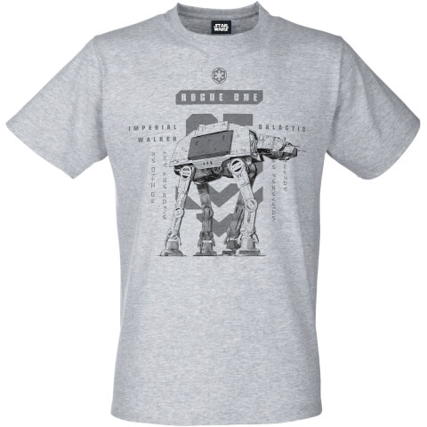 Star Wars: Rogue One Mens Imperial Walker T-Shirt - Grijs