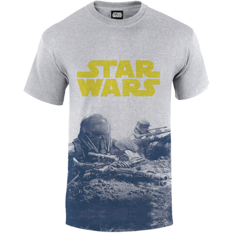 Star Wars: Rogue One Men's Blue Death Trooper Print T-Shirt - Grey