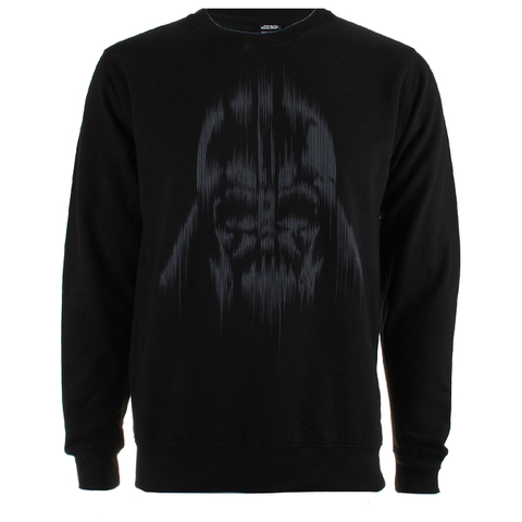 Star Wars Rogue One Men's Vader Lines Crew Sweatshirt - Black