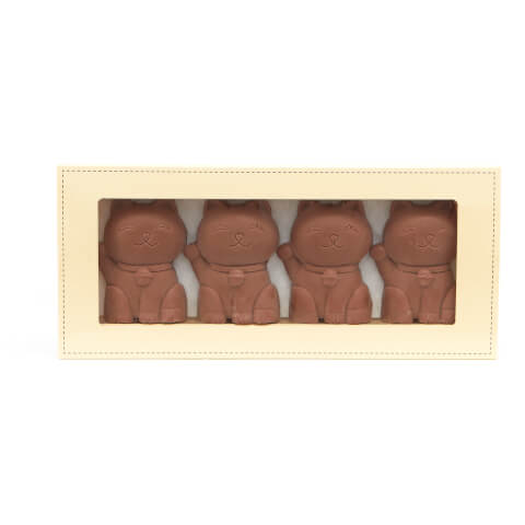 4 Milk Chocolate Cats