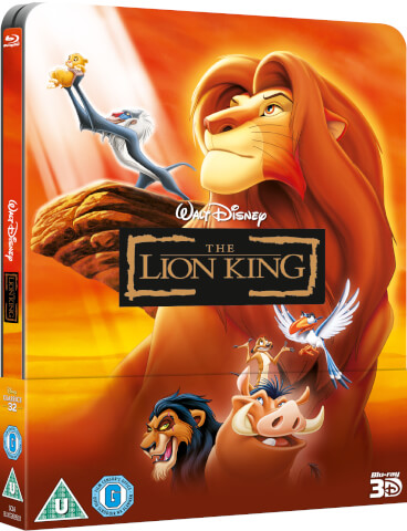 The Lion King 3D (Includes 2D Version) - Zavvi Exclusive Lenticular Edition Steelbook (The Disney Collection #32)