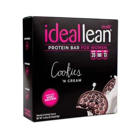 IdealLean Protein Bar Cookies N Cream