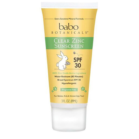 Babo Clear Zinc Fragrance Free Sunscreen SPF 30