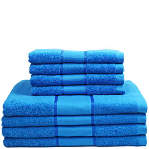 Restmor 100% Cotton 8 Piece Towel Bale Set - Teal