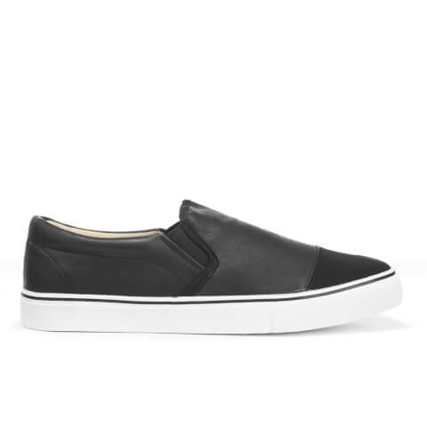 Brave Soul Men's Crasher PU Slip On Shoes - Black