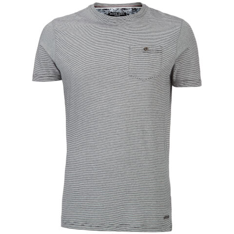 Brave Soul Men's Miller Stripe T-Shirt - Black/White