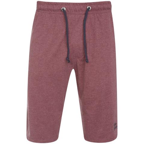 Tokyo Laundry Men's Greenbury Lounge Shorts - Bordeaux Marl
