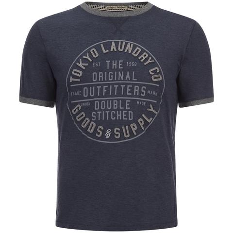T-Shirt Homme Double Stitched Tokyo Laundry -Bleu Chiné