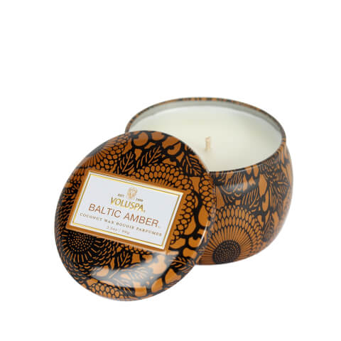 Voluspa Japonica Decorative Tin Candle - Baltic Amber 4 oz