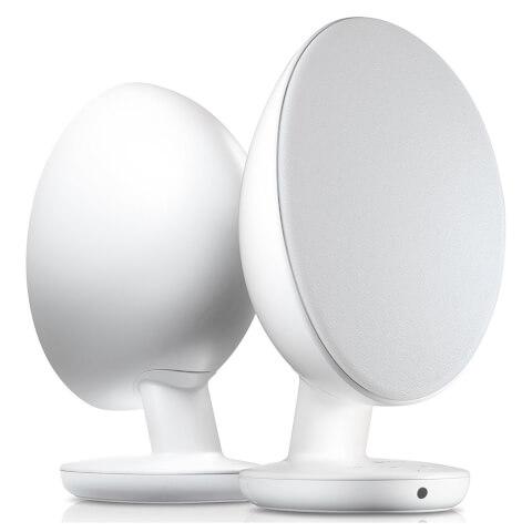 KEF EGG Bluetooth Stereo Speakers - White