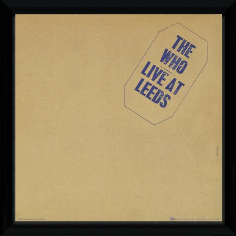 The Who Leeds Framed Album Cover - 12