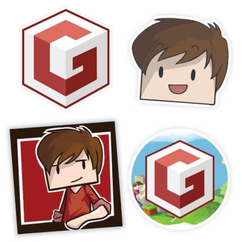 Autocollants Grian Minecraft