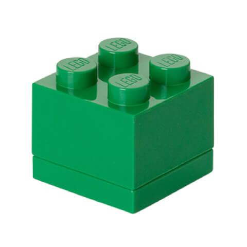 Mini Brique de rangement LEGO® Verte 4 tenons