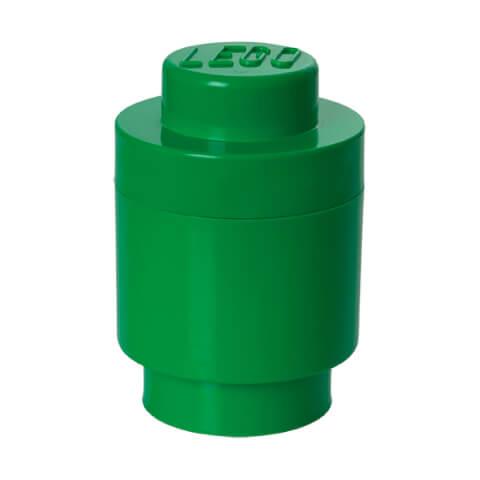 LEGO Storage Brick 1 - Dark Green (Round)