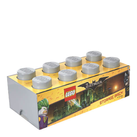 LEGO Batman Storage Brick 8 - Medium Stone Grey