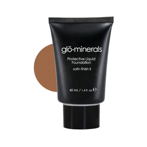 glominerals gloProtective Liquid Foundation Satin II - Honey