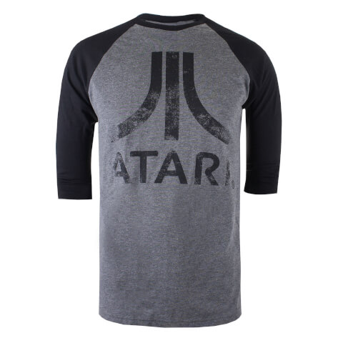 Atari Men's Logo Long Sleeve T-Shirt - Grey/Black
