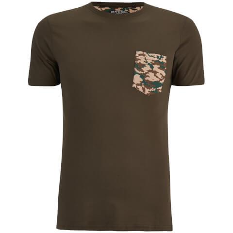 T-Shirt Homme Pulp Camouflage Brave Soul -Kaki