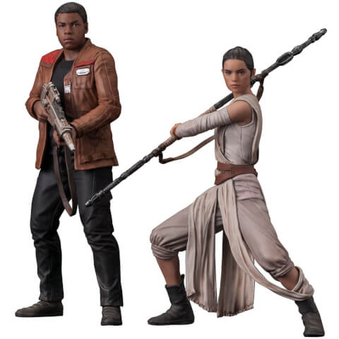 Star Wars Episode VII Rey & Finn ARTFX+ Statue 2-Pack