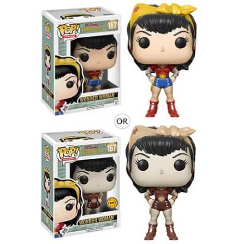 Figurine Pop! Wonder Woman DC Bombshells ou Variante Chase