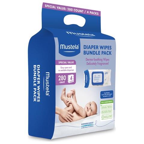 Mustela Diaper Wipes Bundle Pack of 4