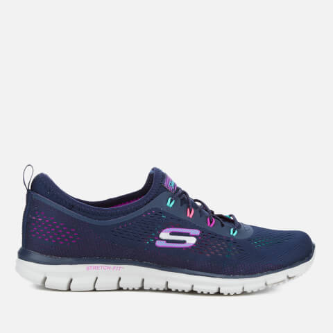 Skechers Women's Glider Harmony Slip On Trainers - Navy/Multi