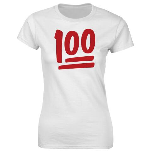 Fitness Women's 100Percent T-Shirt - White