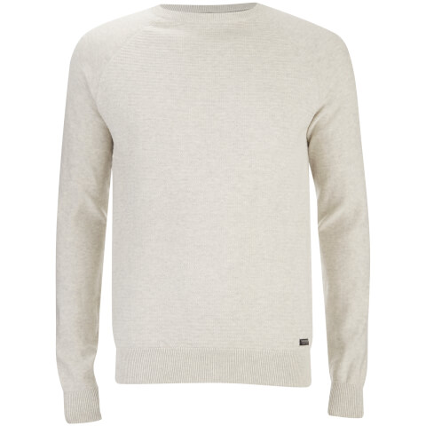 Threadbare Men's Turner Stripe Knit Jumper - Birch Marl