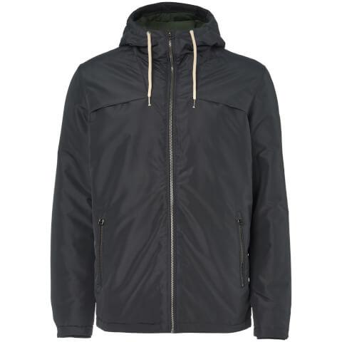 Jack & Jones Men's Originals Calm Zip Through Hooded Jacket - Asphalt