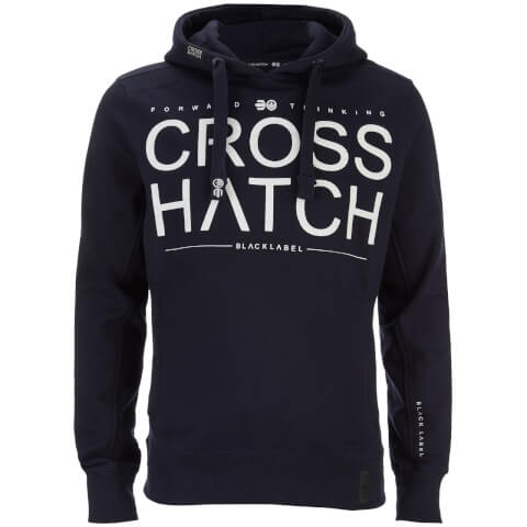 Crosshatch Men's Sevcon Rib Detail Hoody - Night Sky