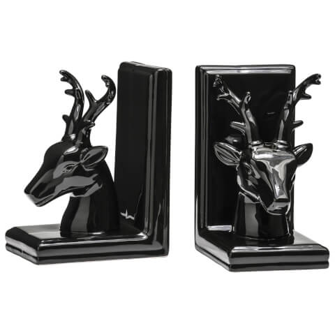 Deer Bookends (Set of 2) - Black Dolomite