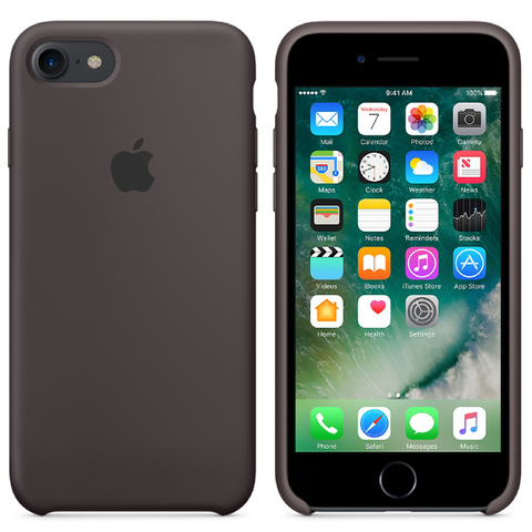 Étui en Silicone pour iPhone 7 -Cacao