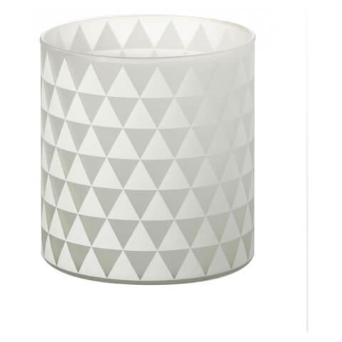 Parlane Triangles Glass Tealight Holder - White (13 x 12cm)