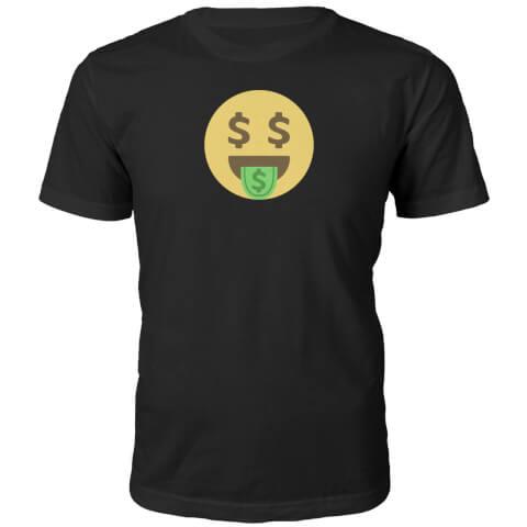 T-Shirt Unisexe Emoji Dolla Dolla Dolla Face -Noir
